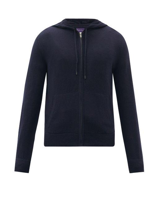 メンズ Ralph Lauren Purple Label スパ ウールカシミア スウェットパーカー Blue
