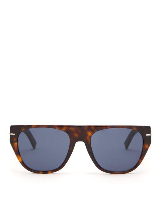 bddfadc4d8 Dior Homme - Brown Blacktie Flat Top D-frame Sunglasses for Men - Lyst ...