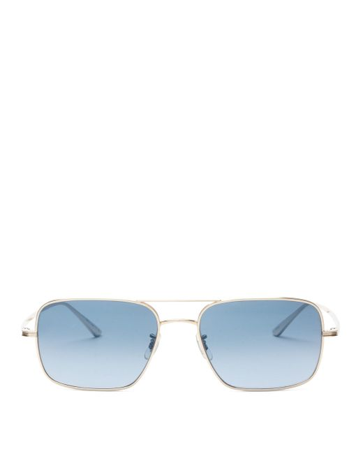 The Row Blue X Oliver Peoples Victory L.a. Titanium Sunglasses