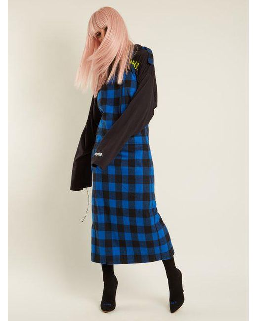 Checked flannel apron dress VETEMENTS New Online Discount Genuine Comfortable Cheap Online dBi4DYJi