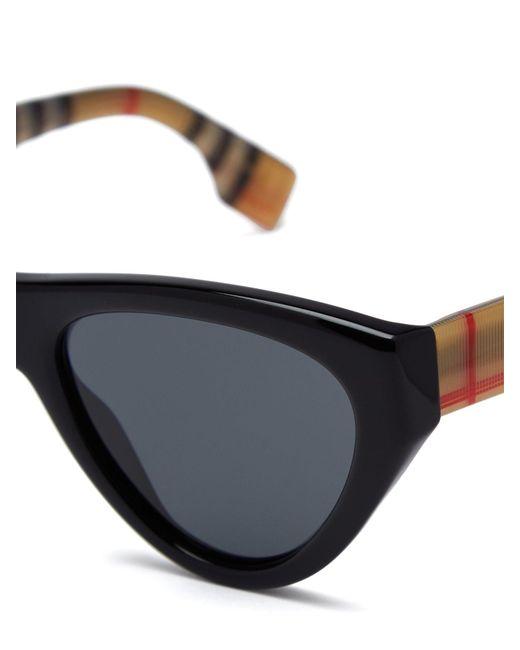 a999cf5812 ... Burberry - Black Vintage Check Cat Eye Sunglasses - Lyst