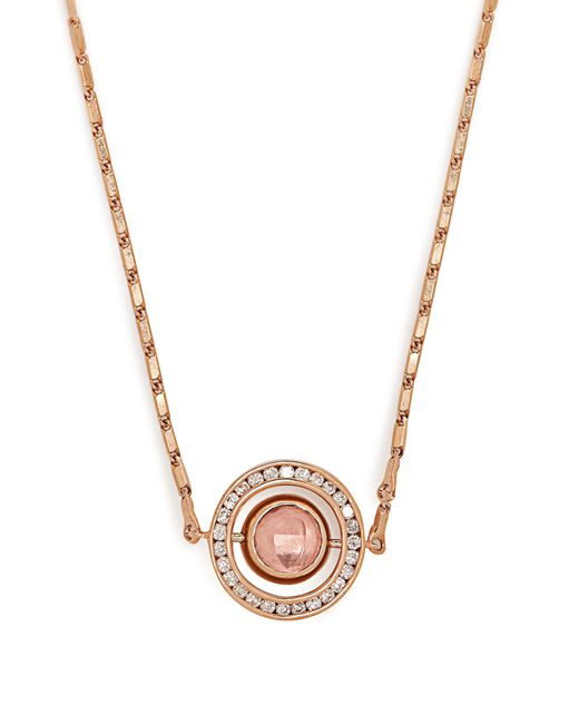 Marie Mas - Pink Small Diamond, Amethyst, Topaz & Gold Necklace - Lyst
