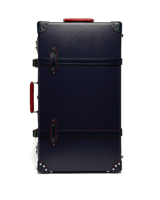 """Globe-Trotter Blue St. Moritz 30"""" Check In Suitcase"""