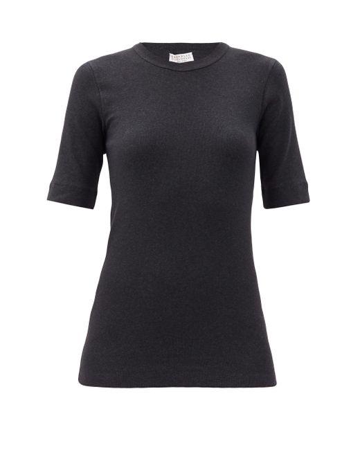 Brunello Cucinelli リブ コットンブレンド Tシャツ Multicolor