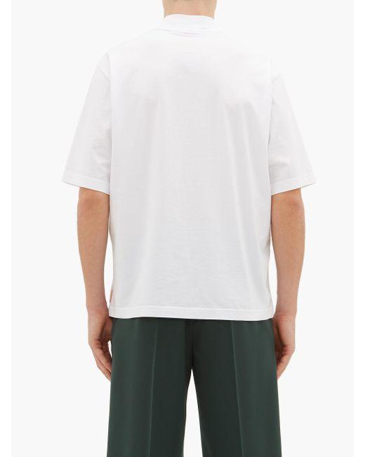 メンズ Acne エスコ クルーネック コットンtシャツ White