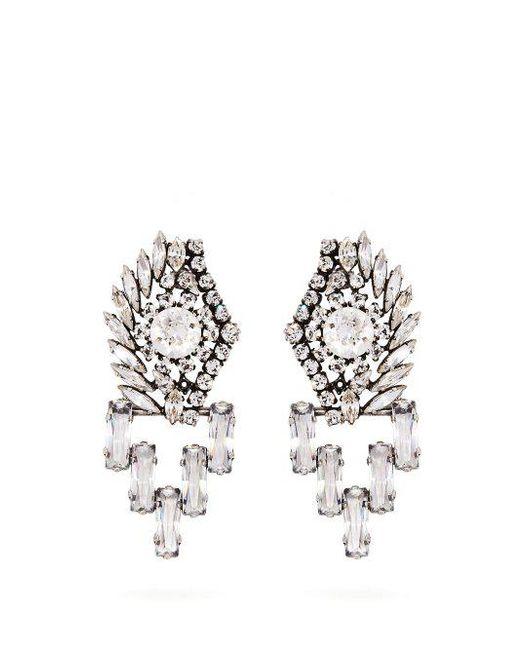 Sonia Rykiel Oversized crystal-embellished earrings y5dT8lP