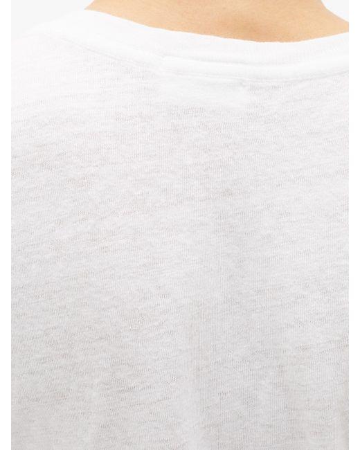Re/done 1960s コットンメランジ ボディスーツ White