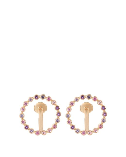 Charlotte Chesnais - Metallic Saturn Small Sapphire, Amethyst & Gold Earrings - Lyst