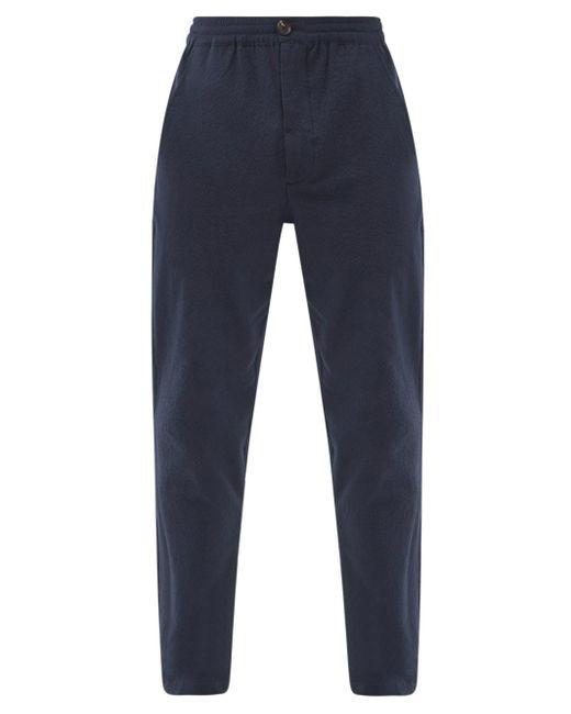 メンズ Oliver Spencer エブリング コットンブレンド シアサッカーパンツ Blue
