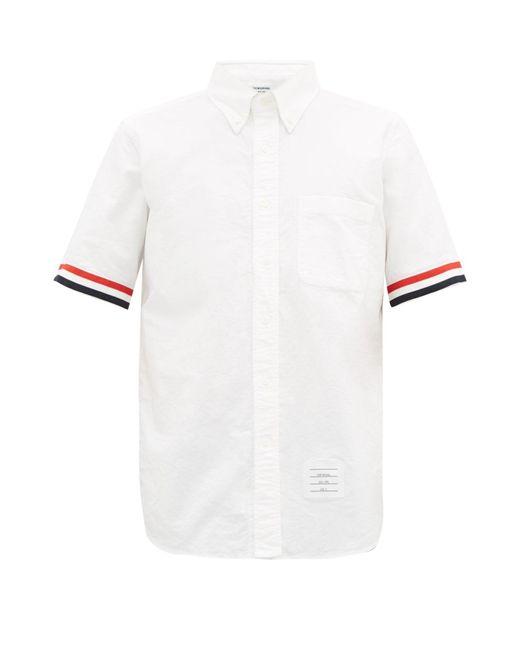 メンズ Thom Browne グログランカフス コットンオックスフォードシャツ White