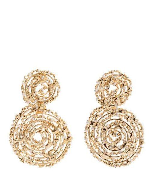 Rosantica By Michela Panero - Metallic Pizzo Bead-embellished Spiral Drop Earrings - Lyst