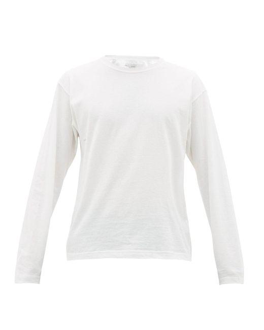 メンズ Bottega Veneta ロングスリーブ コットンtシャツ White