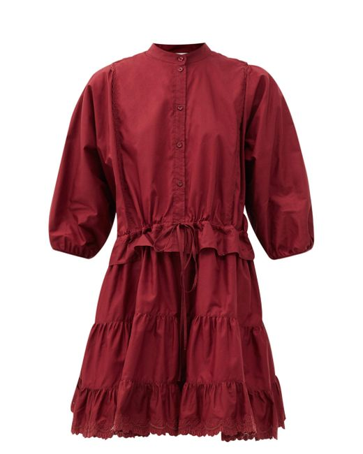 See By Chloé See By Chloé コットンポプリンミニドレス Red