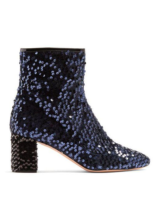 Sequinned ankle boots Rochas