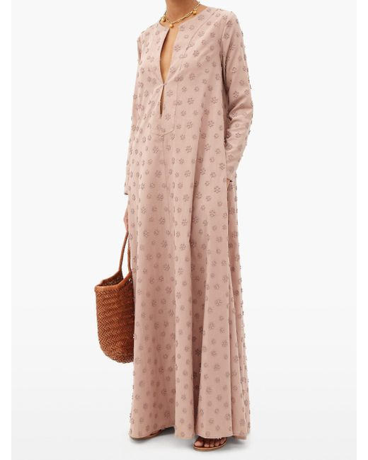 Dodo Bar Or ニリ― フローラルコットン マキシチュニックドレス Pink