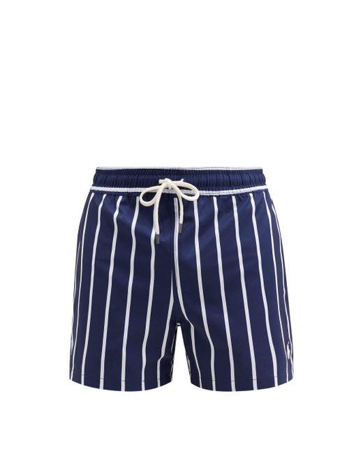 メンズ Polo Ralph Lauren トラベラー ストライプ スイムショーツ Blue