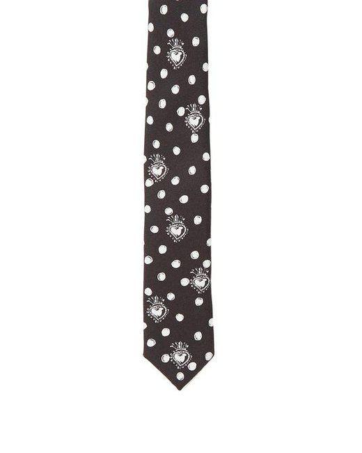 Heart-print silk-twill skinny tie Dolce & Gabbana pgxEHE