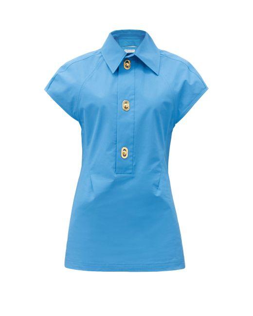 Bottega Veneta コーティングキャンバスシャツ Blue