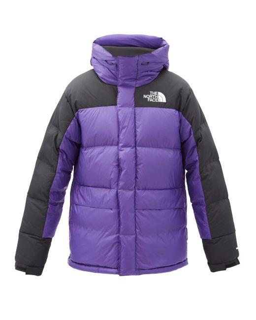 メンズ The North Face ヒマラヤン フーデッドダウンコート Purple
