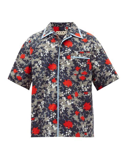 メンズ Marni アブストラクト コットンシャツ Multicolor