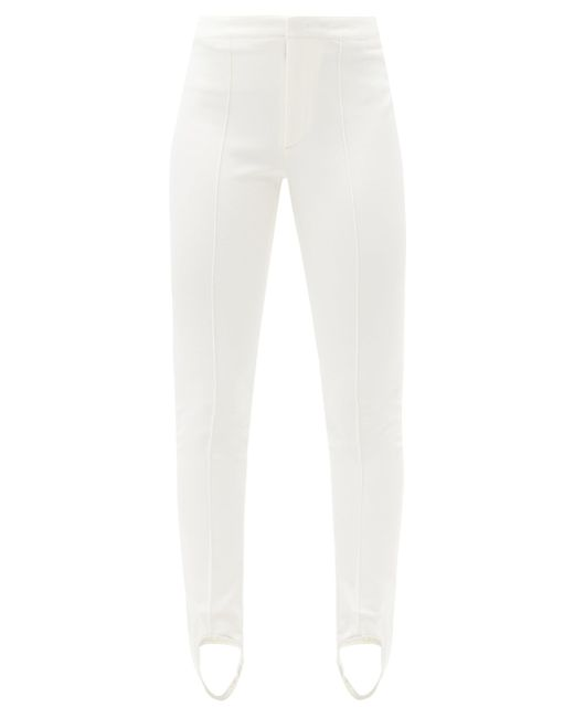 3 MONCLER GRENOBLE スターラップ スキーパンツ White