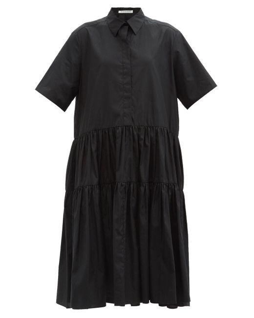 CECILIE BAHNSEN プリムローズ ティアード ポプリンシャツドレス Black
