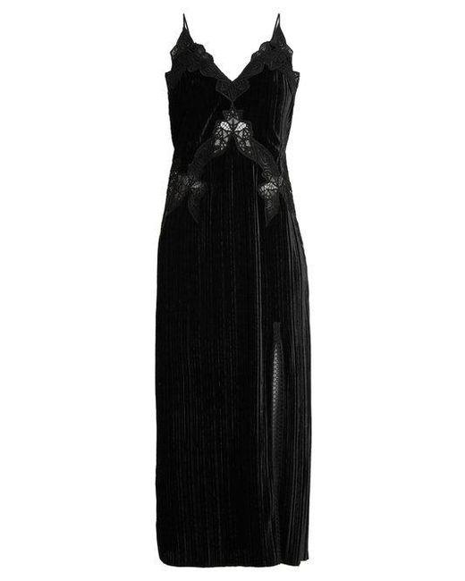 Jonathan Simkhai - Black V-neck Lace-trimmed Velvet Dress - Lyst