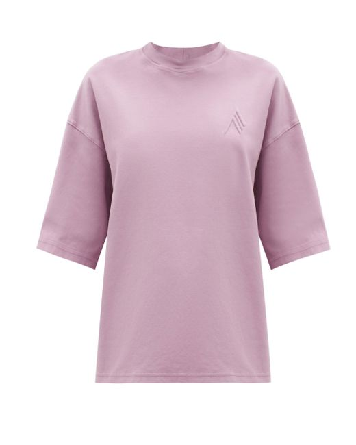 The Attico カラ コットンtシャツ Multicolor