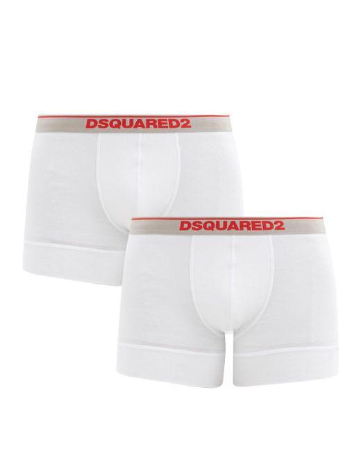 メンズ DSquared² コットンボクサーパンツ X2 White