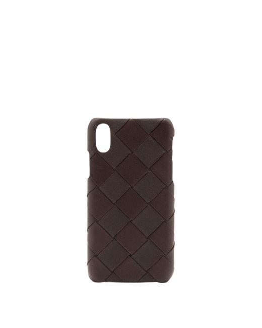 Bottega Veneta Iphone Xs イントレチャートレザーケース Brown