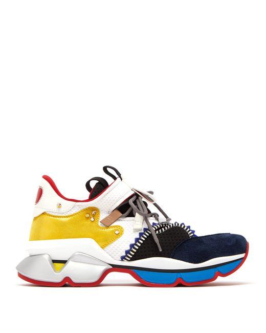 Baskets en daim et résille Red Runner Christian Louboutin pour homme en coloris Multicolor