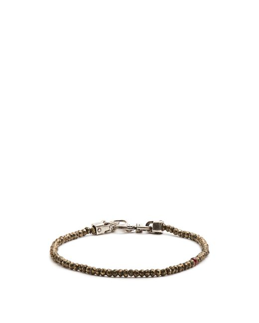 Title Of Work | Metallic Beaded Pyrite And Sterling-silver Bracelet for Men | Lyst