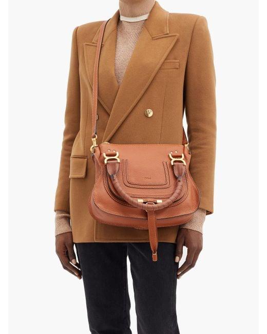 Chloé Brown Marcie Small Leather Cross-body Bag