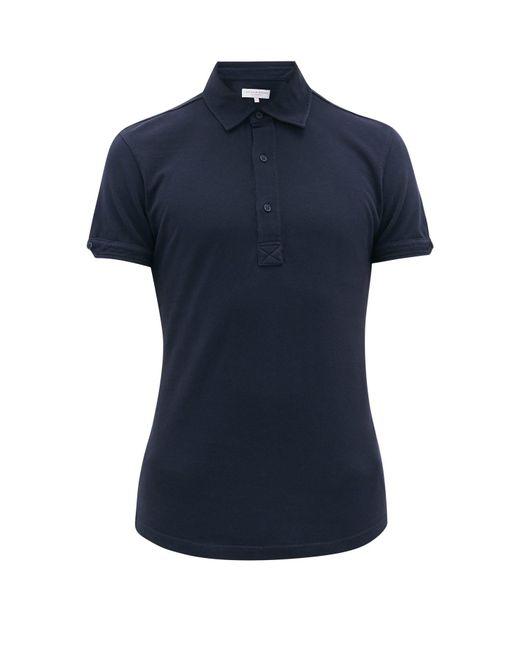 メンズ Orlebar Brown セバスチャン オーガニックコットンポロシャツ Blue