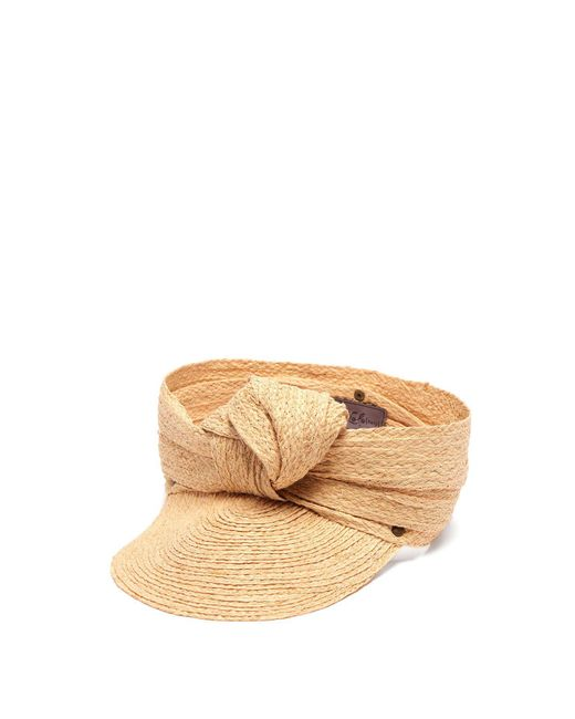 Lola Hats Natural Diva Knotted Raffia Cap