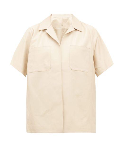 Dodo Bar Or Yulanda レザーシャツ Natural