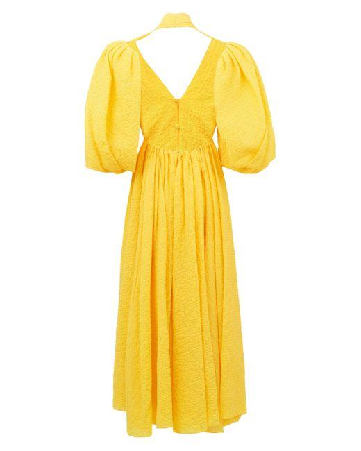 Emilia Wickstead ディーバ バルーンスリーブドレス Yellow