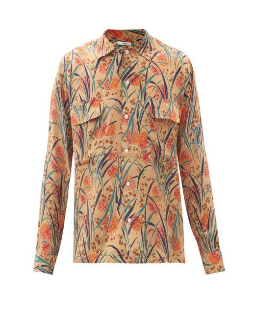 メンズ Bode フーサトニック ルーイ フローラル シルクシャツ Multicolor