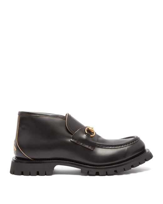 Gucci - Black Mocassins en cuir à broderie abeille Django for Men - Lyst