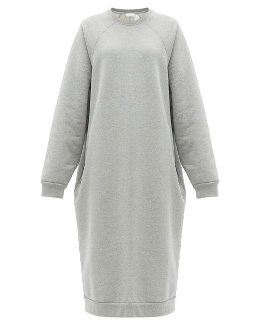 Raey リサイクルコットンプレンド スウェットドレス Gray