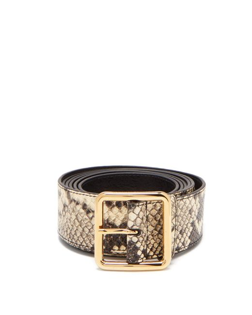 Alexander McQueen Multicolor Extra-long Python-effect Leather Belt