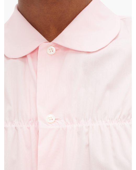 Comme des Garçons Comme Des Garçons Girl ピーターパンカラー コットンシャツ Pink