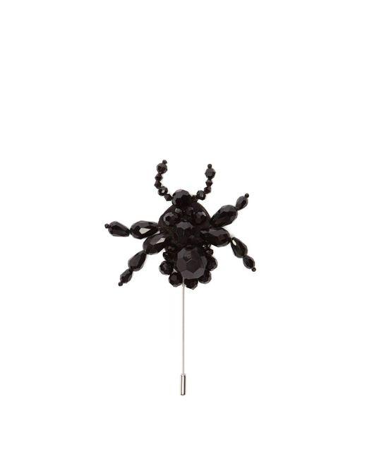 4 MONCLER SIMONE ROCHA Black Spider Beaded Brooch