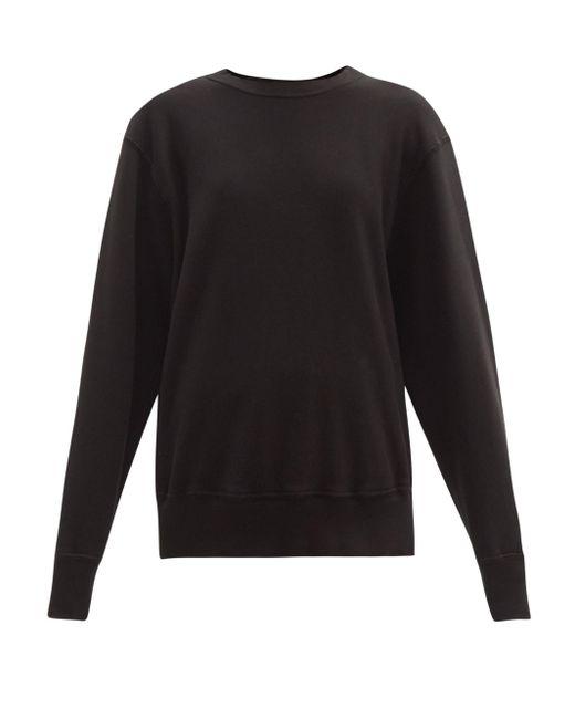Les Tien ブラッシュドバックコットン スウェットシャツ Black
