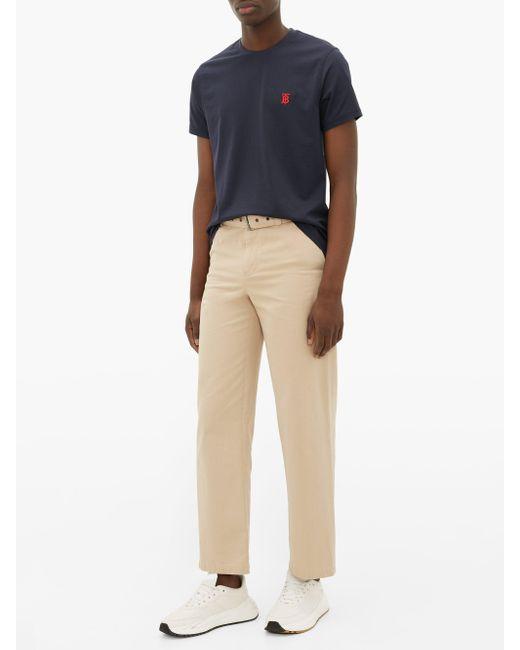 メンズ Burberry Tbモノグラム コットンtシャツ Blue