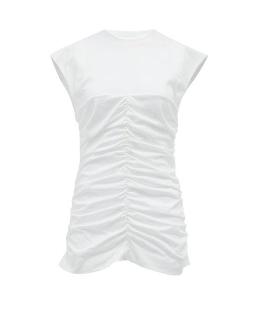 Ganni シャーリングジャージーtシャツ White