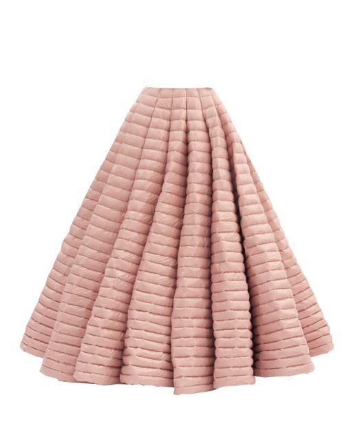 1 MONCLER PIERPAOLO PICCIOLI ラッカードダウン マキシスカート Pink