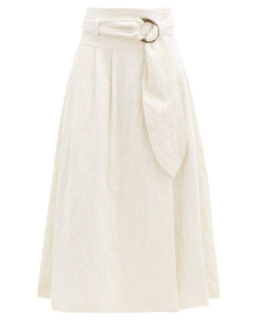 Mara Hoffman エスペランサ オーガニックコットンリネンスカート Multicolor