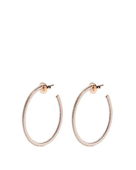 Raphaele Canot - Metallic - Skinny Deco Diamond, Enamel & Pink Gold Earrings - Womens - Gold - Lyst