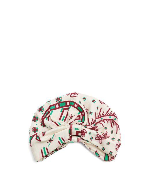 Valentino - Multicolor - Abstract Print Silk Twill Turban Hat - Womens - White Multi - Lyst